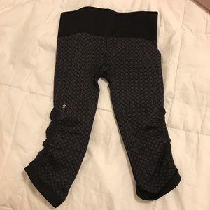 lululemon athletica Pants - LULULEMON ebb to street dark grey crops